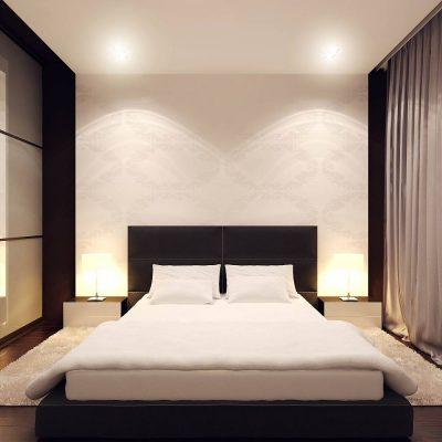 Интерьер спальни в современном стиле красивый
