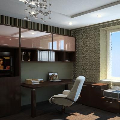Обычная комната со шкафами
