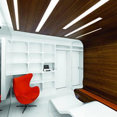 Вид сверху на дизайн кабинета