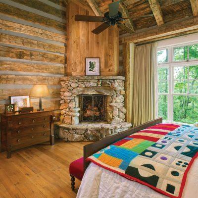 Стиль кантри в интерьере спальни