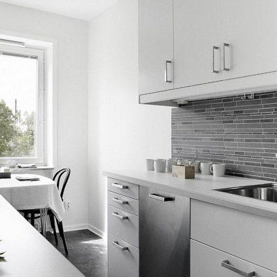 Серебрянный гарнитур кухни