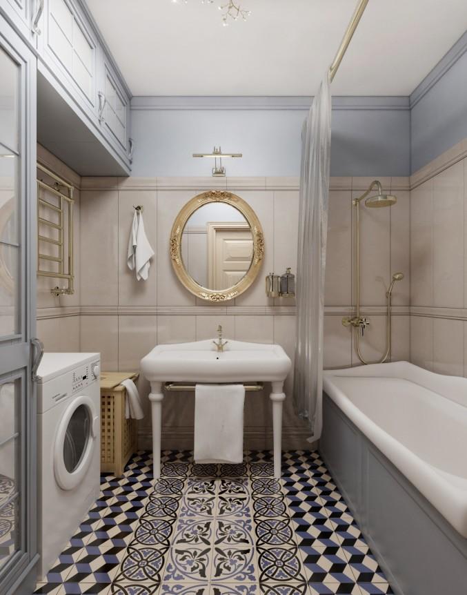 Классическая ванная комната дизайн