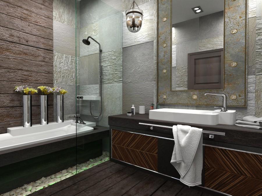 Ванные комнаты в стиле лофт дизайн фото
