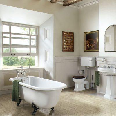 Минималистичная ванная в викторианском стиле