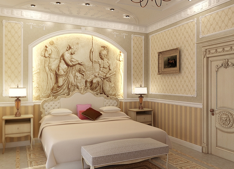 Мягкие оттенки спальни