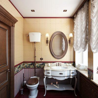Небольшая ванна в классическом стиле