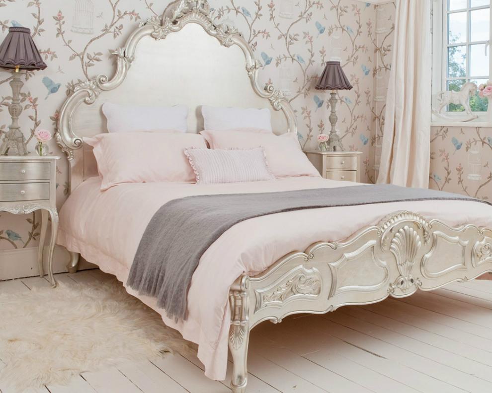 Нежная спальня в стиле кантри