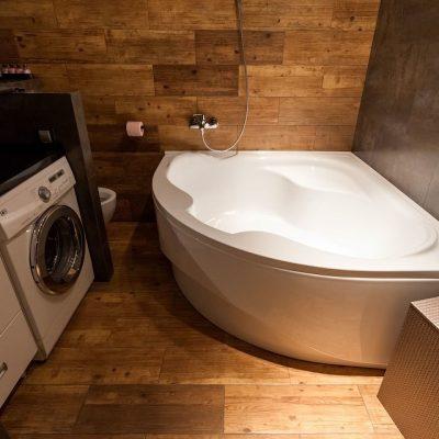 Оформление маленькой ванной в стиле лофт