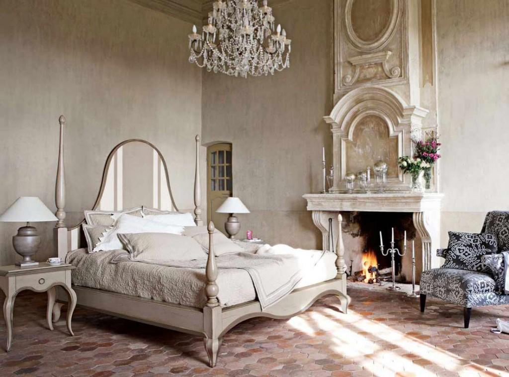 Оригинальная спальня в стиле кантри фото