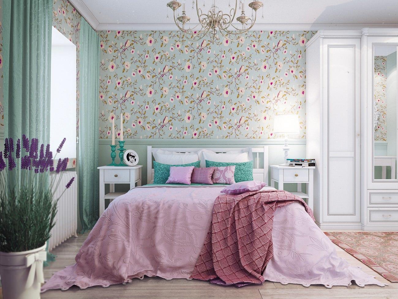 Особенность спальни в стиле кантри