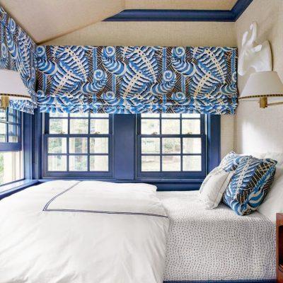 Римские шторы в спальне в детской