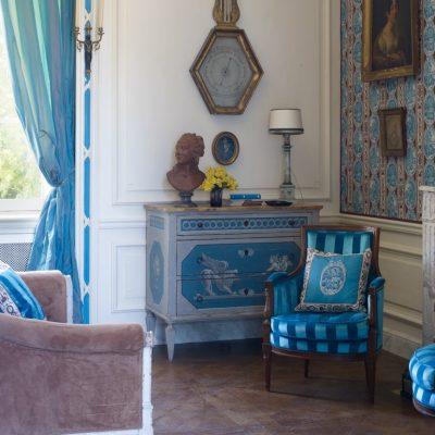 Синие оттенки прованса в интерьере