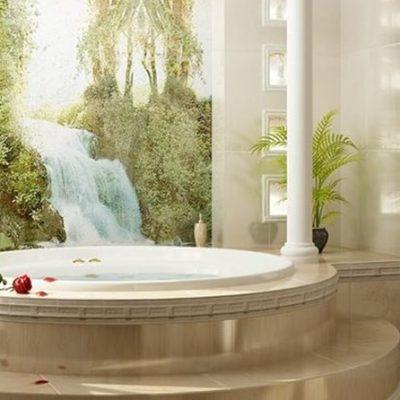 Ванна с картиной