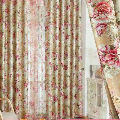 Цветочные шторы