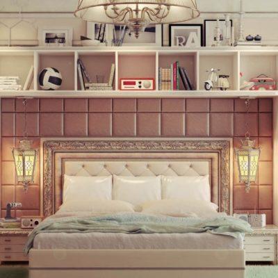 Большая кровать в детской
