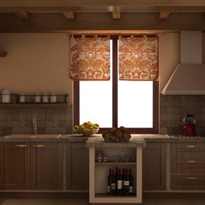 Маленькое окно в интерьере кухни