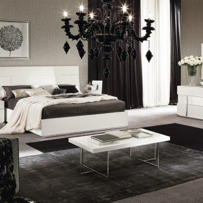 Спальни в стиле модерн белого цвета