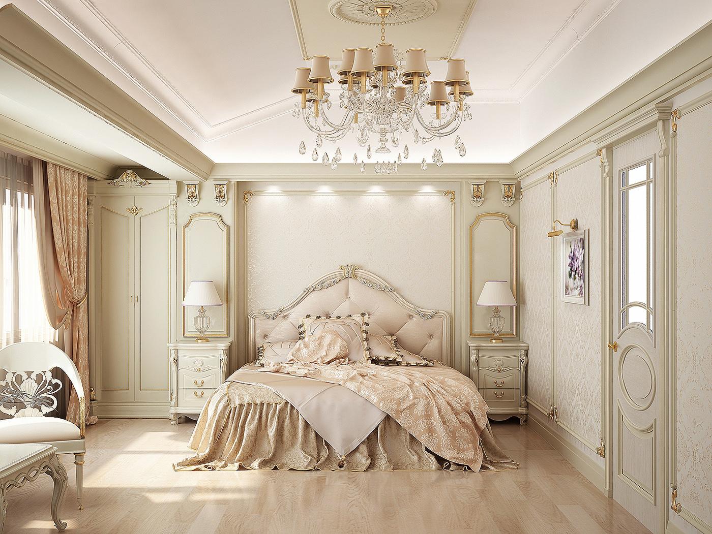 Актуальная и красивая комната в классическом стиле
