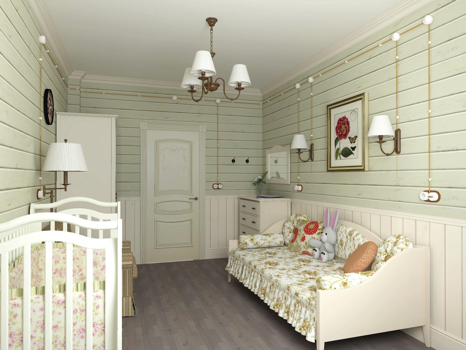Спальня кантри фото
