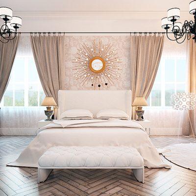 Спальня в английском стиле в интерьере квартиры