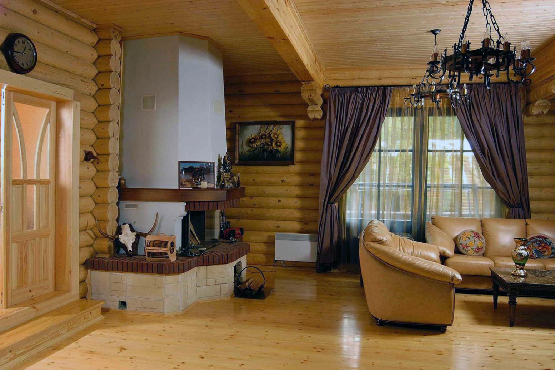 Интерьер гостиной в русском стиле