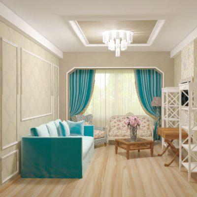 Светлая комната в английском стиле
