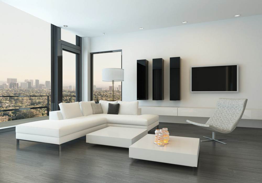 Светлая комната в стиле минимализм