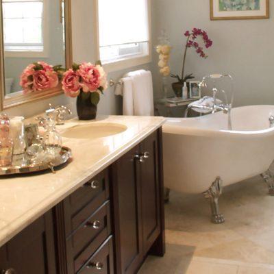 Уникальная ванная в классическом стиле