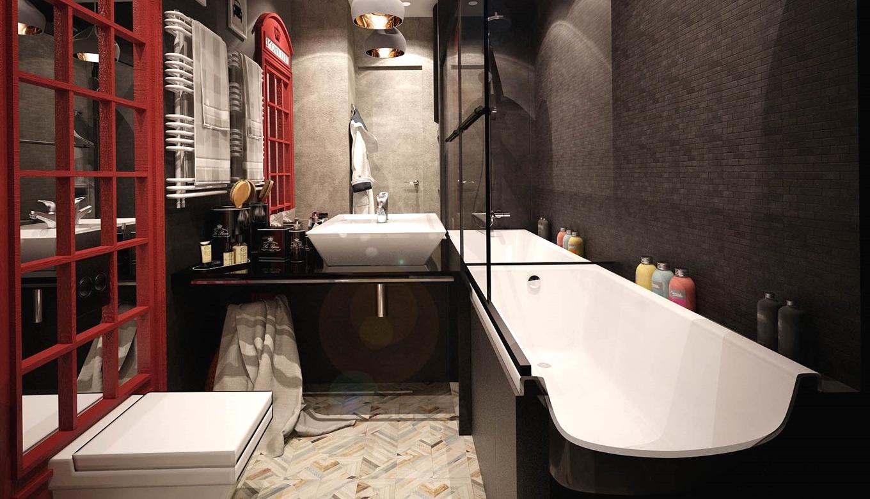 Ванная комната небольшого размера в стиле лофт