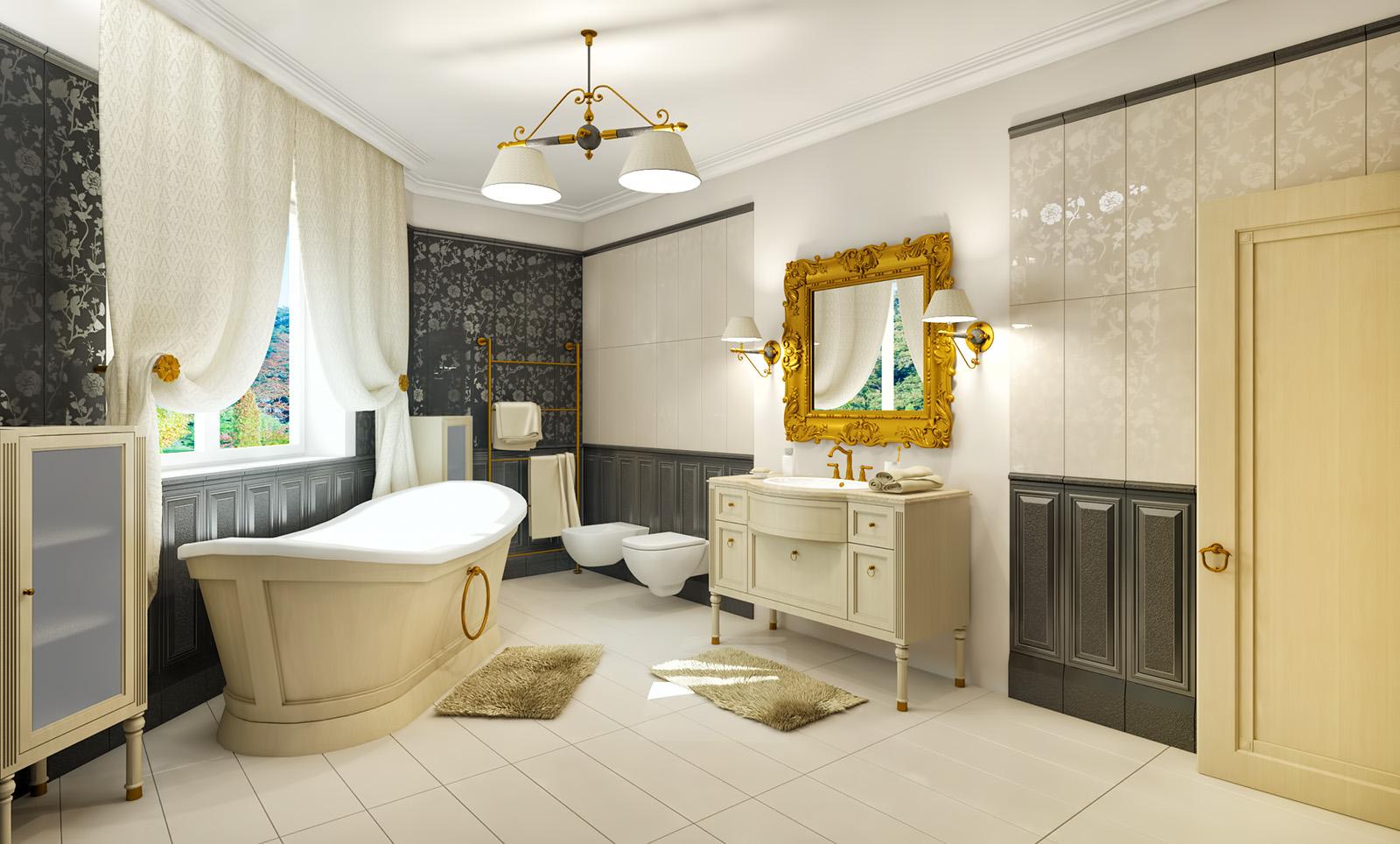 Дизайн ванной классического стиля