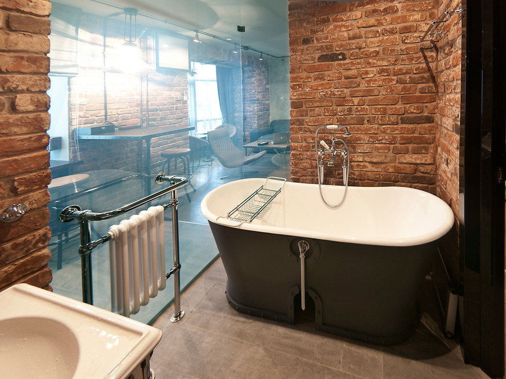 Ванная в стиле лофт картинка