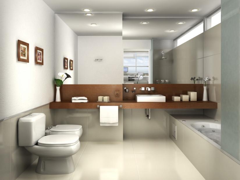 Ванная в стиле минимализм фото