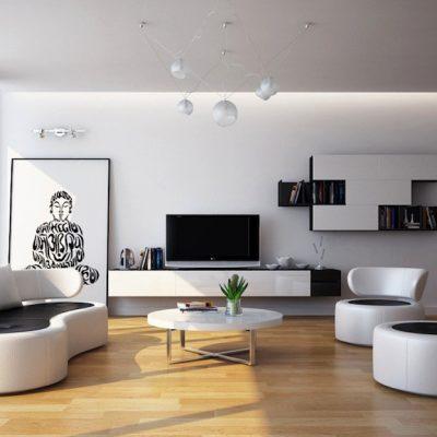 Стильный дизайн гостиной комнаты