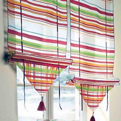 Римские шторы интересной формы