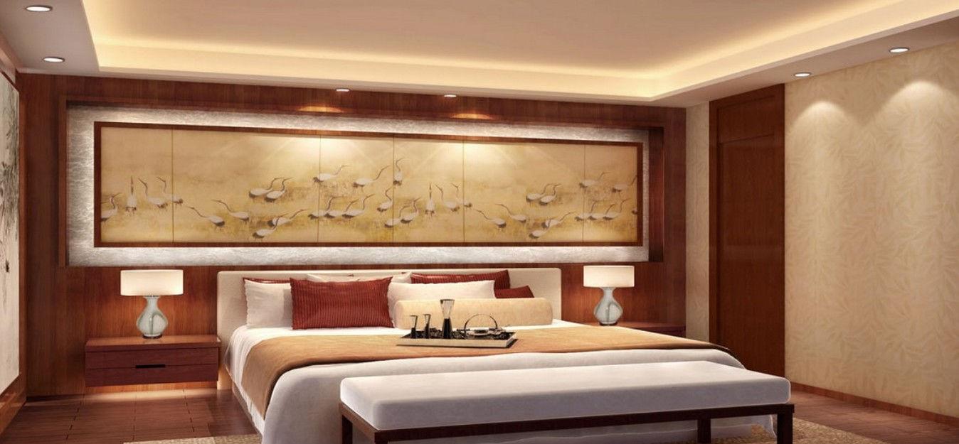 Китайский стиль привнесет в спальню лаконичность, спокойствие и умиротворение