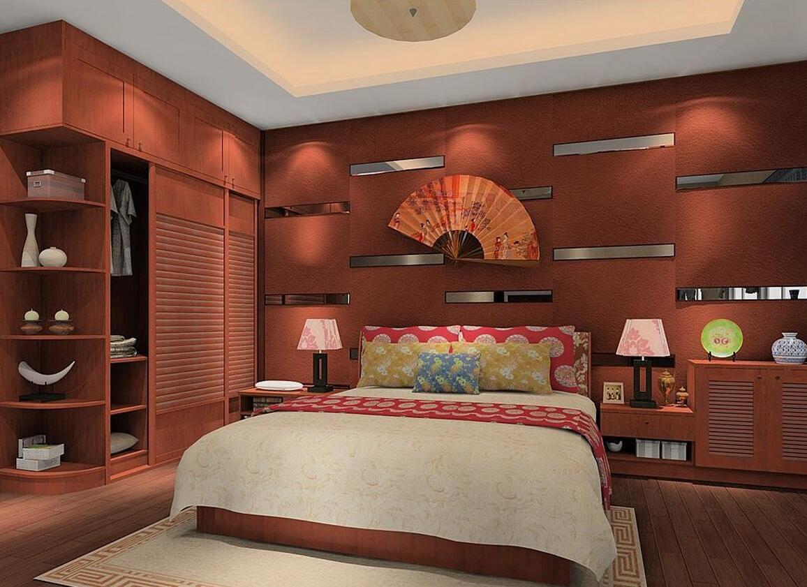 На стенах и полках разместите предметы, напоминающие о восточном стиле: веера и картины, вазы и посуду