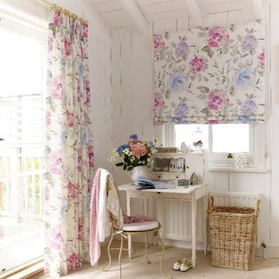 Цветочное сочетание штор