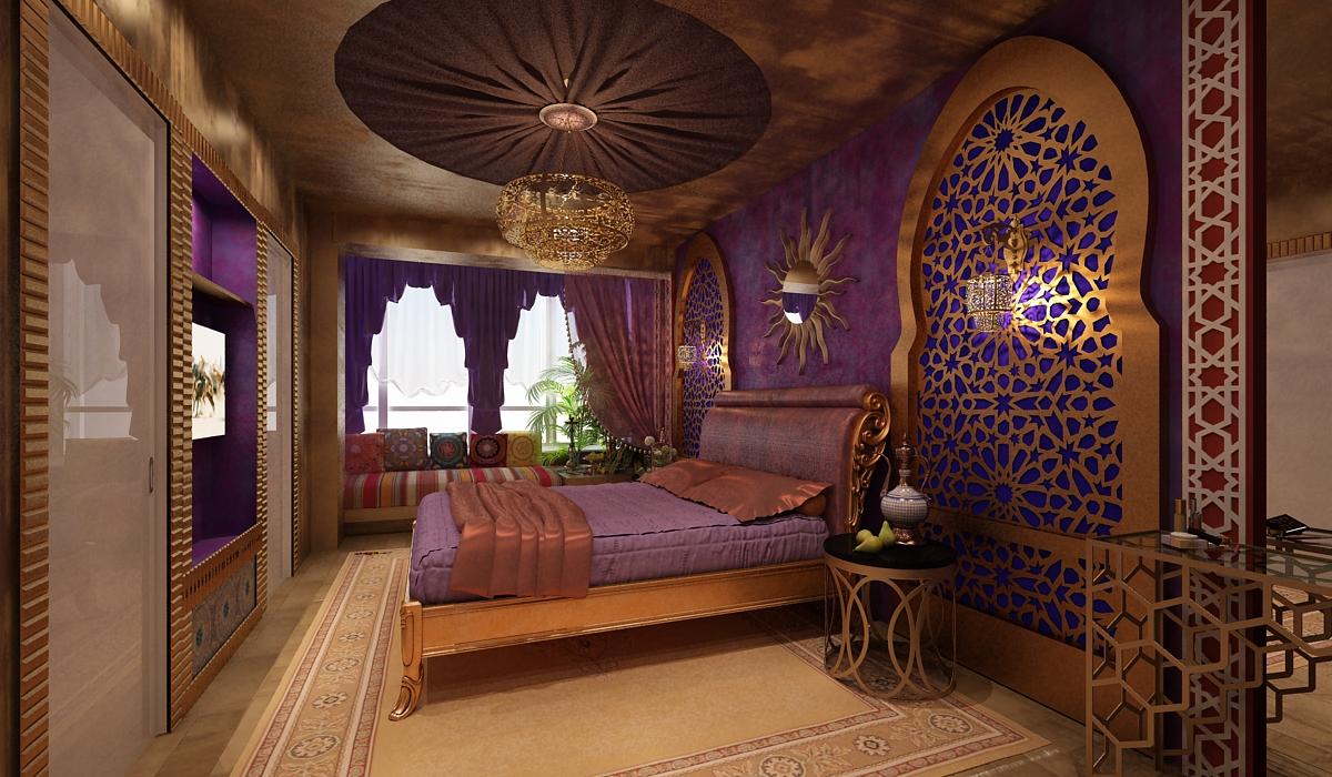 Драпировка потолка в арабском стиле