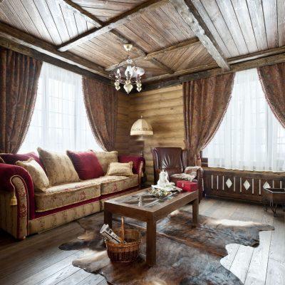 Интерьере в виде деревенского домика