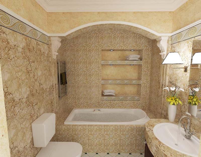 Небольшая ванная с туалетом