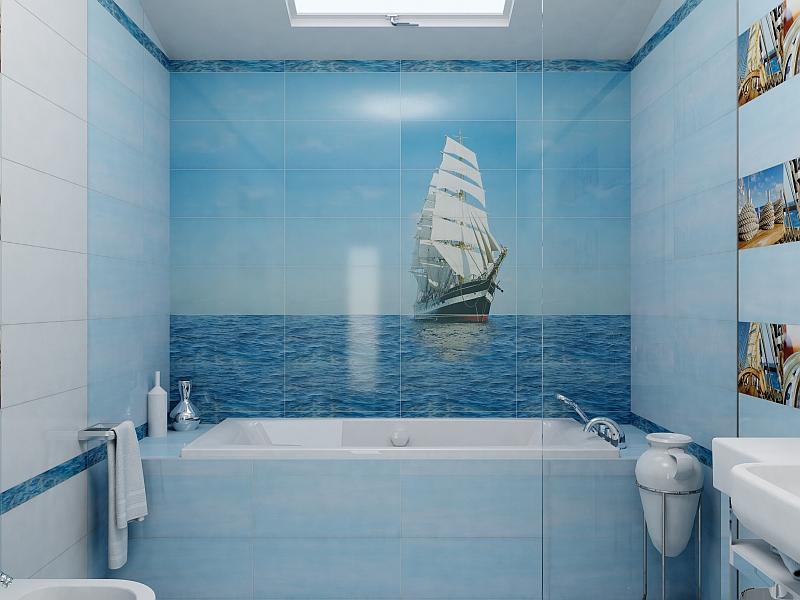 Фотоплитка в ванной по фен-шуй