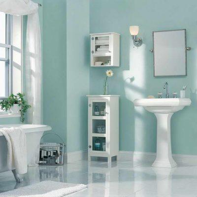 Ванная в голубых оттенках