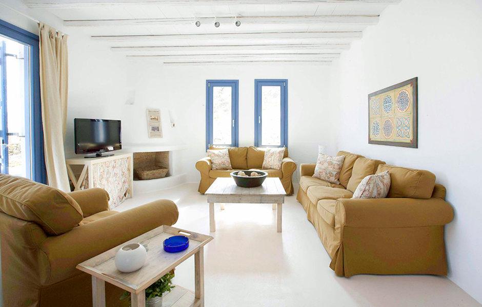 Средиземноморская гостиная по-гречески