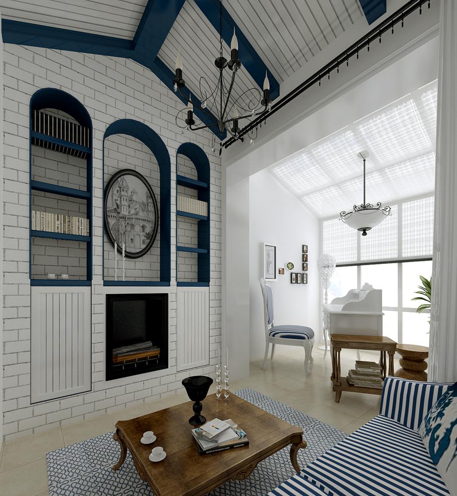 Средиземноморский интерьер - это не обязательно просторное помещение, поэтому даже маленькая квартира может быть оформлена в этом стиле