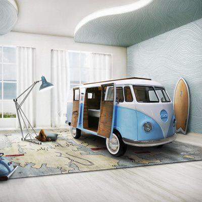 Кровать-курортный автобус в морском стиле