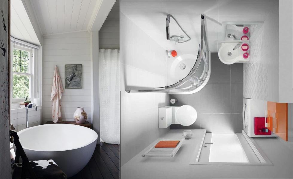 Скругленная сантехника в ванной