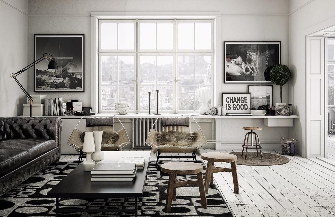 Гостиная в стиле лофт: как обустроить простор