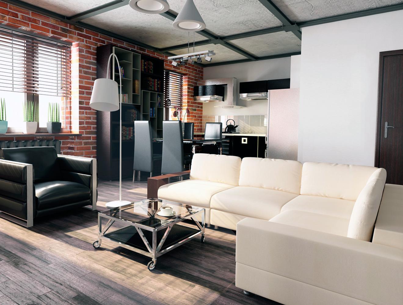 гостиная в стиле лофт характерные черты и особенности