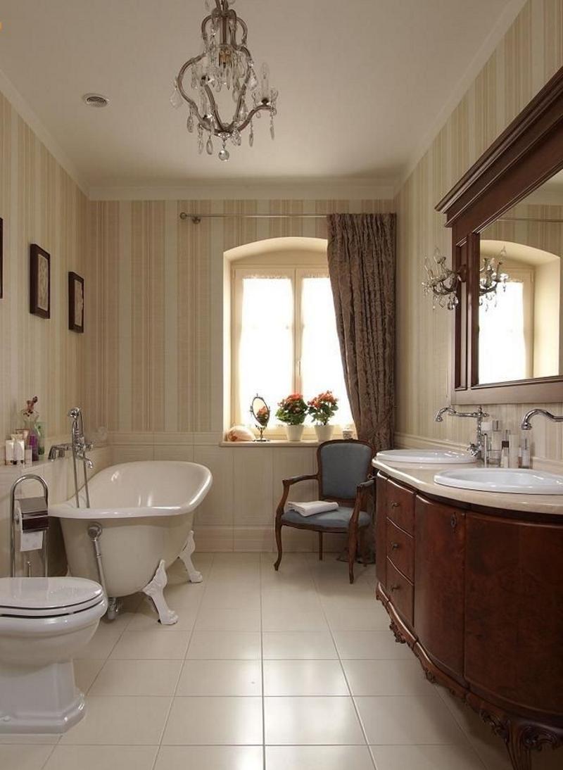 Мебель в ванной в викторианском стиле
