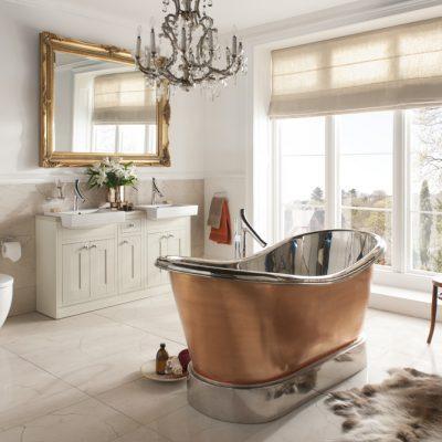 Медная ванна в викторианском стиле